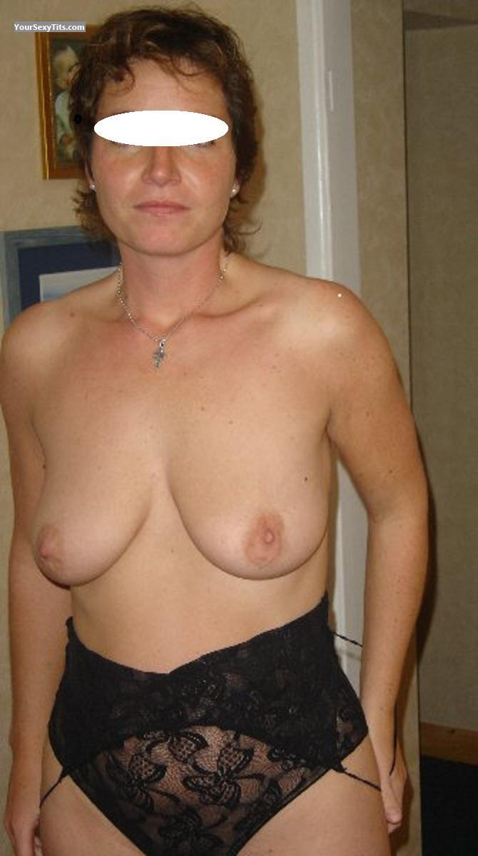 Tit Flash: Wife's Medium Tits - Katie from United Kingdom