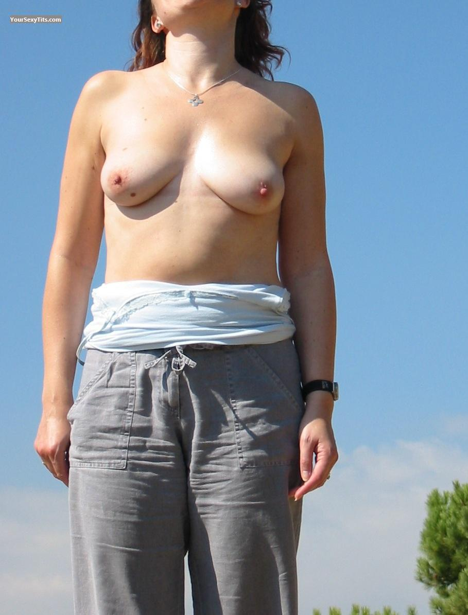 Tit Flash: Medium Tits - Clare UK from United States