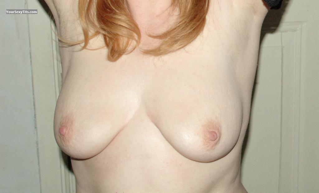 Tit Flash: Wife's Medium Tits - Gypsy from Netherlands