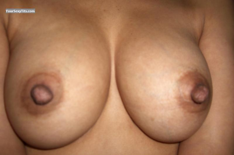 Tit Flash: Medium Tits - Wifey from Canada