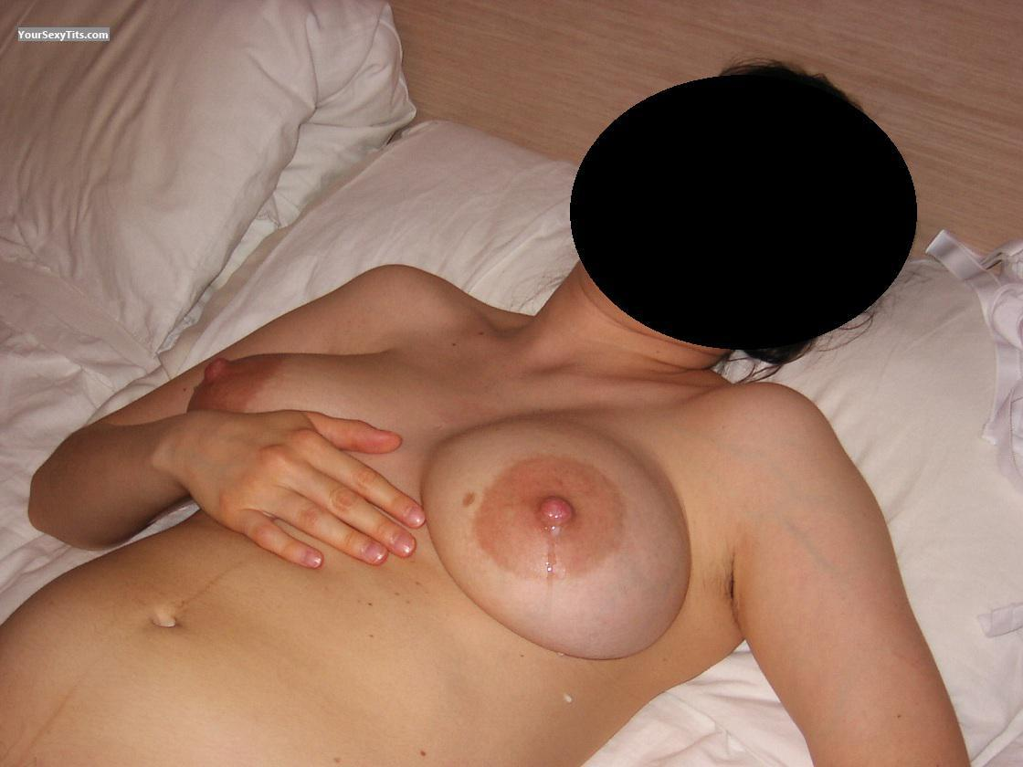Tit Flash: Medium Tits - Pauline from France