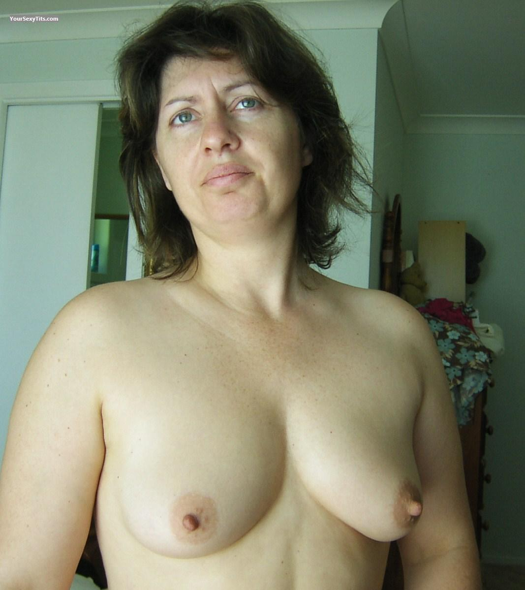 Tit Flash: Medium Tits - Topless Nicky from Australia