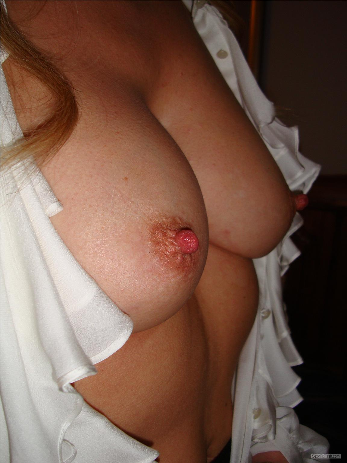 Tit Flash: My Medium Tits - Miss V from United States