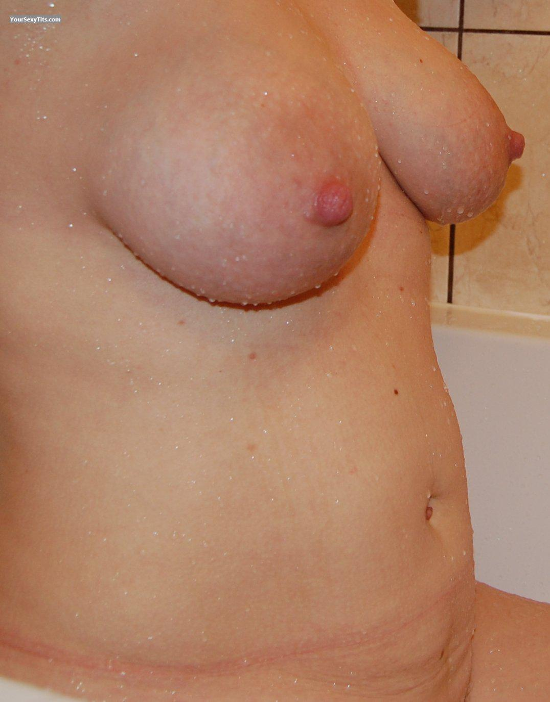 Tit Flash: Wife's Medium Tits - Doris from Poland