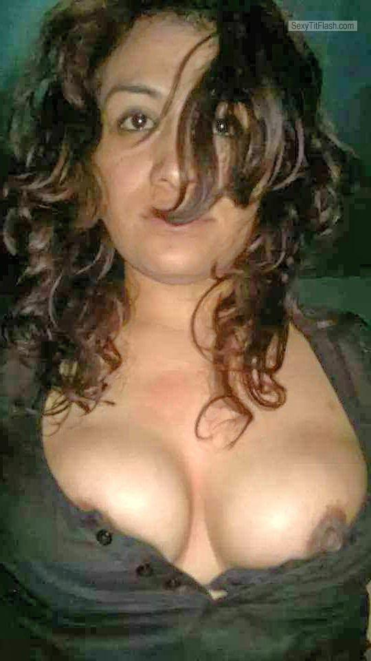 Medium Tits Of A Candid Woman Topless Sexy Brunette