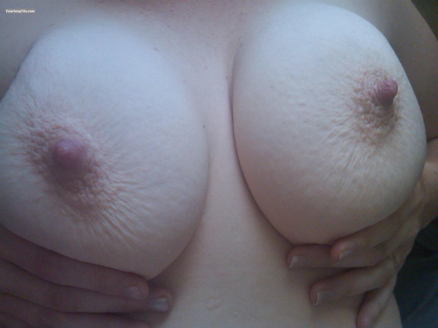 Tit Flash: Medium Tits - Curious Wife from United States