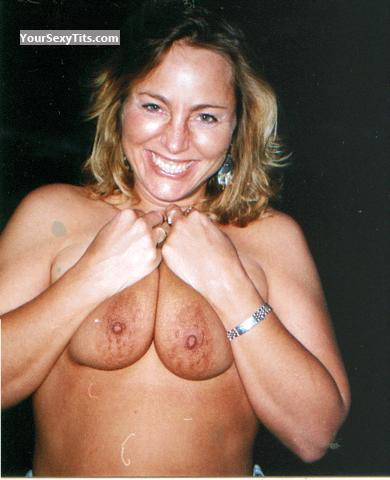 Tit Flash: Medium Tits - Topless Lorrinude from United States