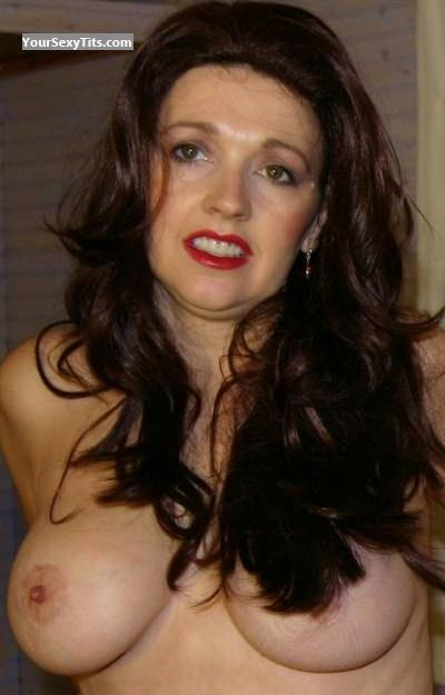 Tit Flash: Medium Tits - Topless Wife Pandora from United States
