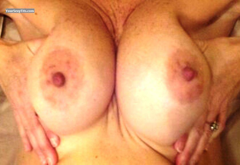 Tit Flash: Wife's Tanlined Medium Tits - Lydia 10 from United States