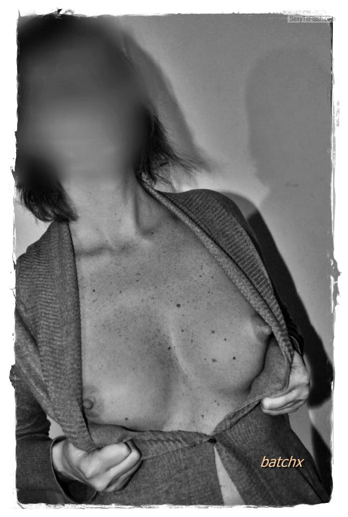 Tit Flash: Wife's Small Tits - Belladana from Belgium