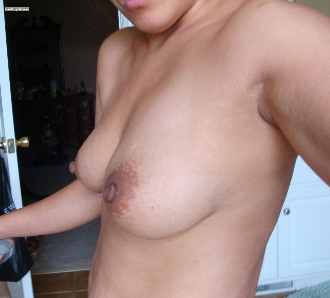 Tit Flash: My Medium Tits (Selfie) - Lori from United States
