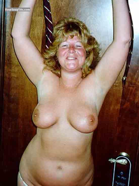 Tit Flash: Medium Tits - Topless Ginger03 from United States