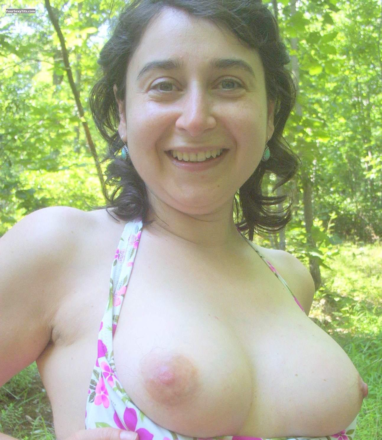 Tit Flash: Medium Tits - Topless Alina from Romania