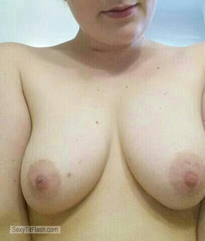 My Medium Tits Selfie by Wifes Tits