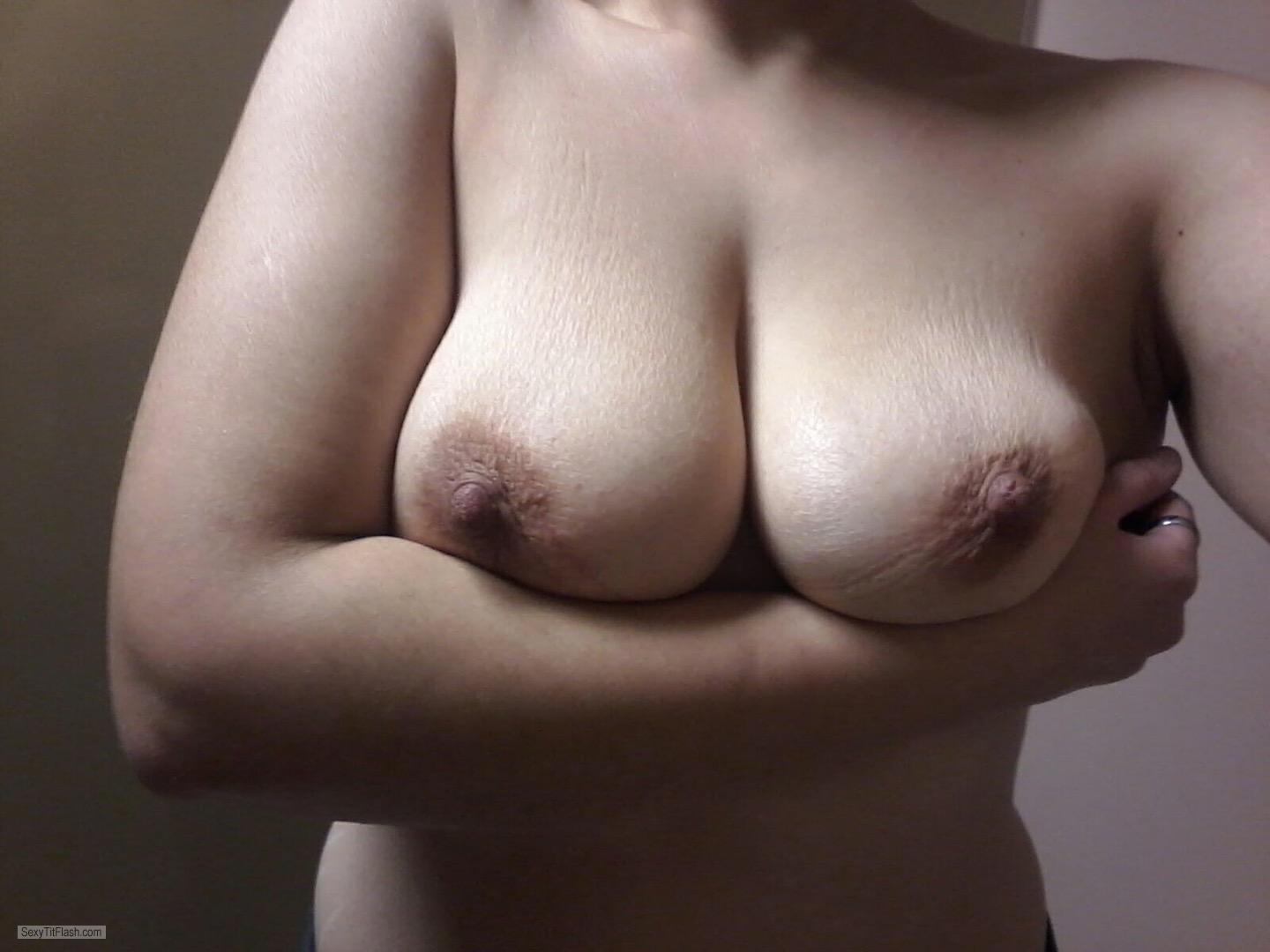 Tit Flash: My Medium Tits (Selfie) - Horney from United States