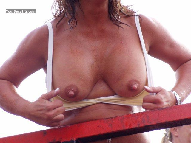 Tit Flash: Medium Tits - Harley from United States