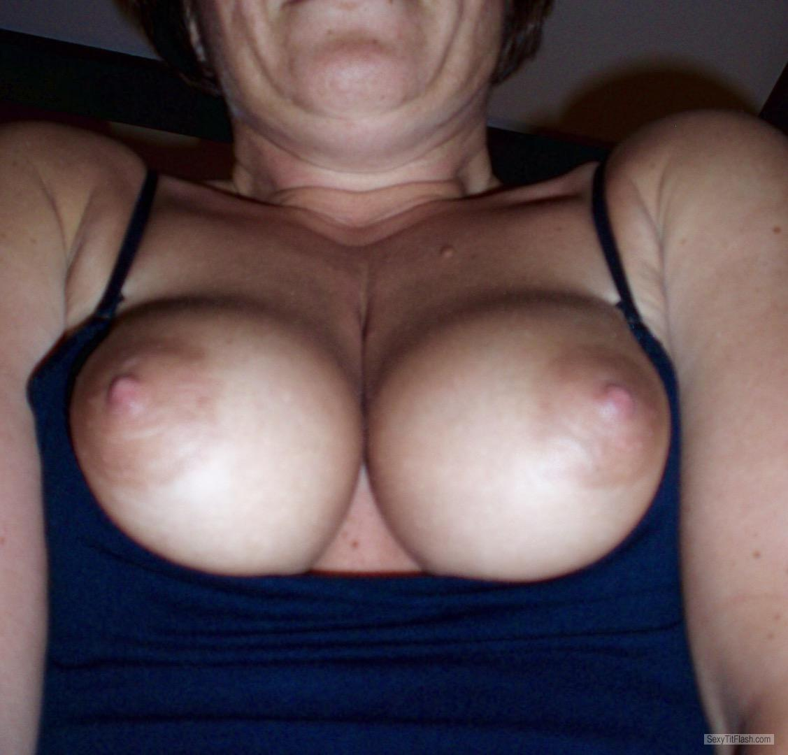 Tit Flash: My Medium Tits - Pjp0rn from United Kingdom