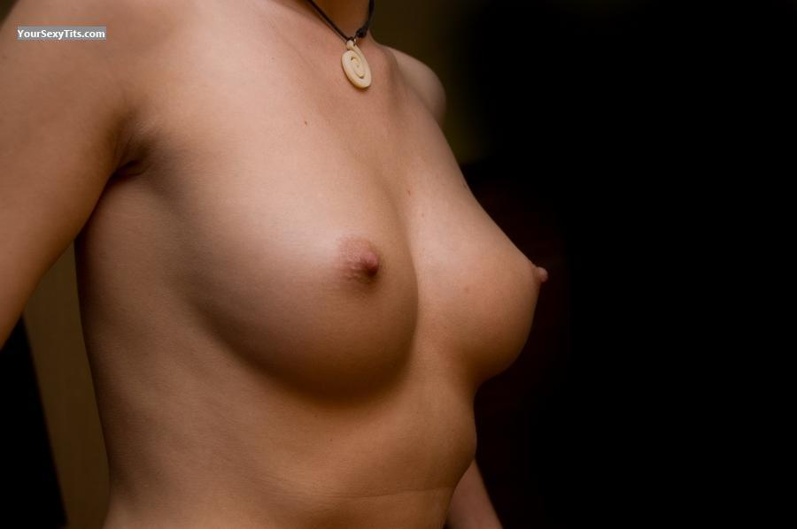 Tit Flash: Medium Tits - Topless Monja from Switzerland