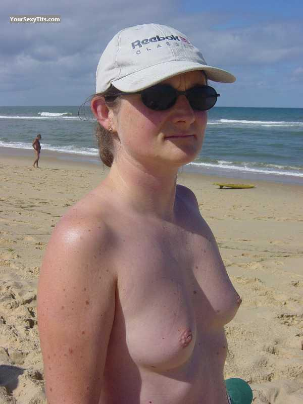 Tit Flash: Medium Tits - Marianne from France
