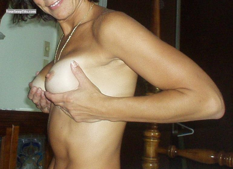 Tit Flash: Medium Tits - Patti from United States