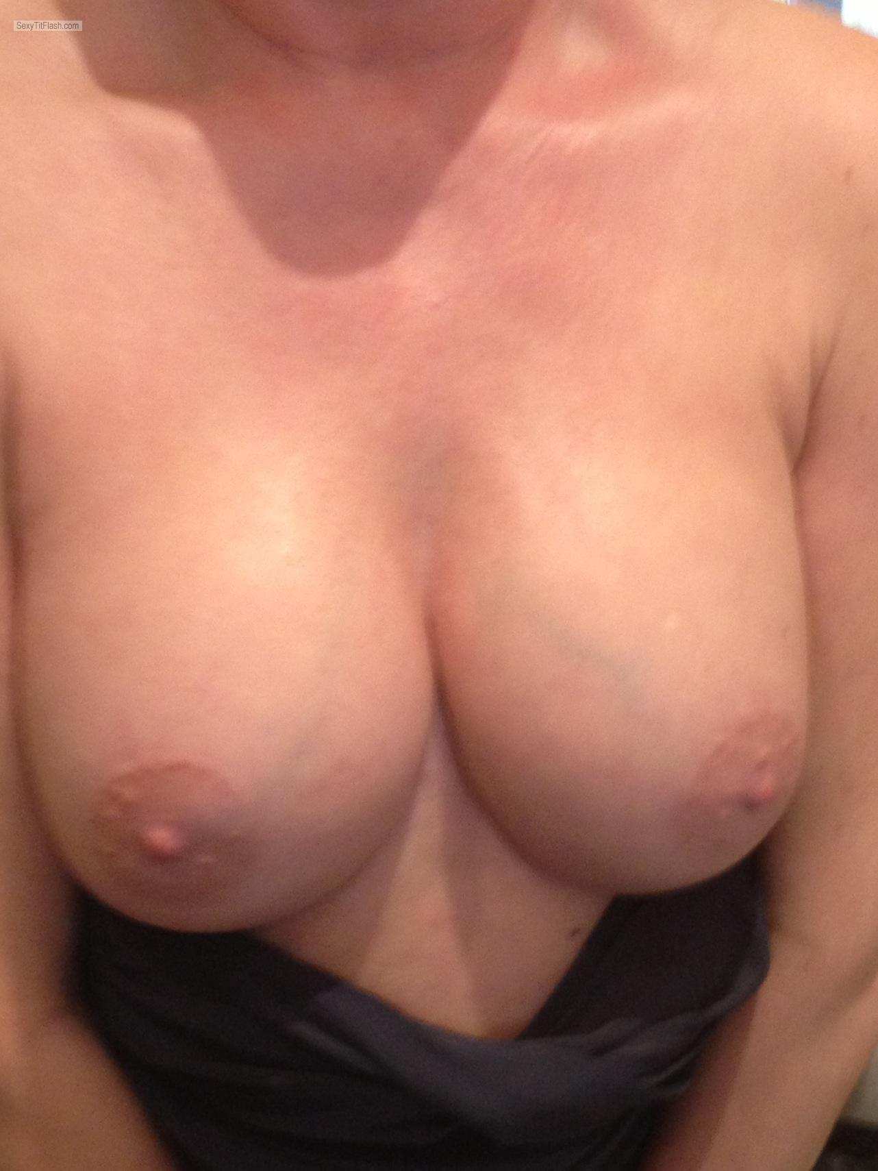 Tit Flash: My Medium Tits - Elizabeth from United Kingdom