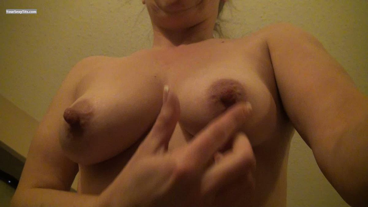 Tit Flash: My Medium Tits (Selfie) - HottieKat from United States