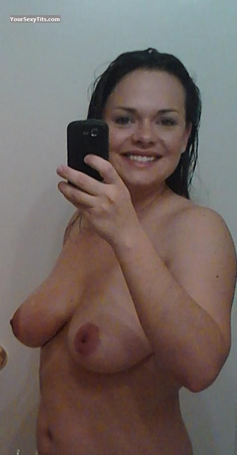 Medium Tits Of A Friend Topless Selfie by Sexy Woman
