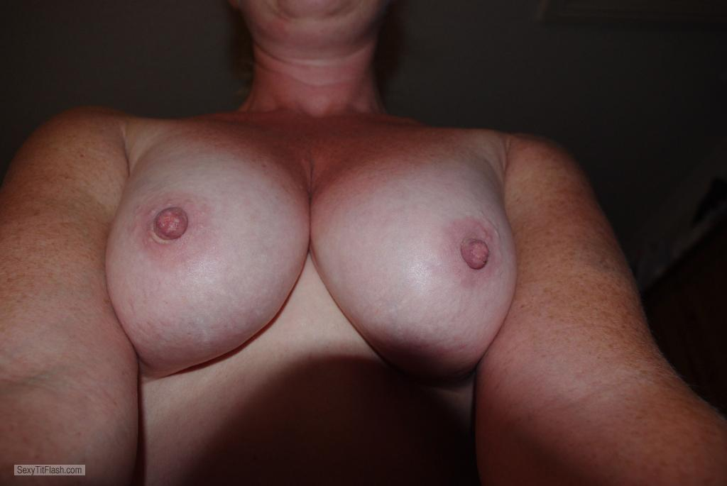 Tit Flash: Wife's Medium Tits - Milfie from United States