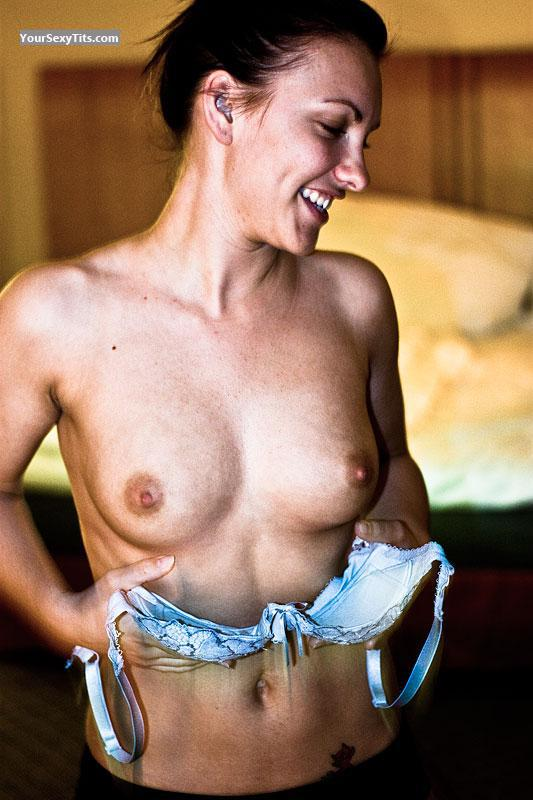 Tit Flash: Medium Tits - Topless Sofie from United Kingdom