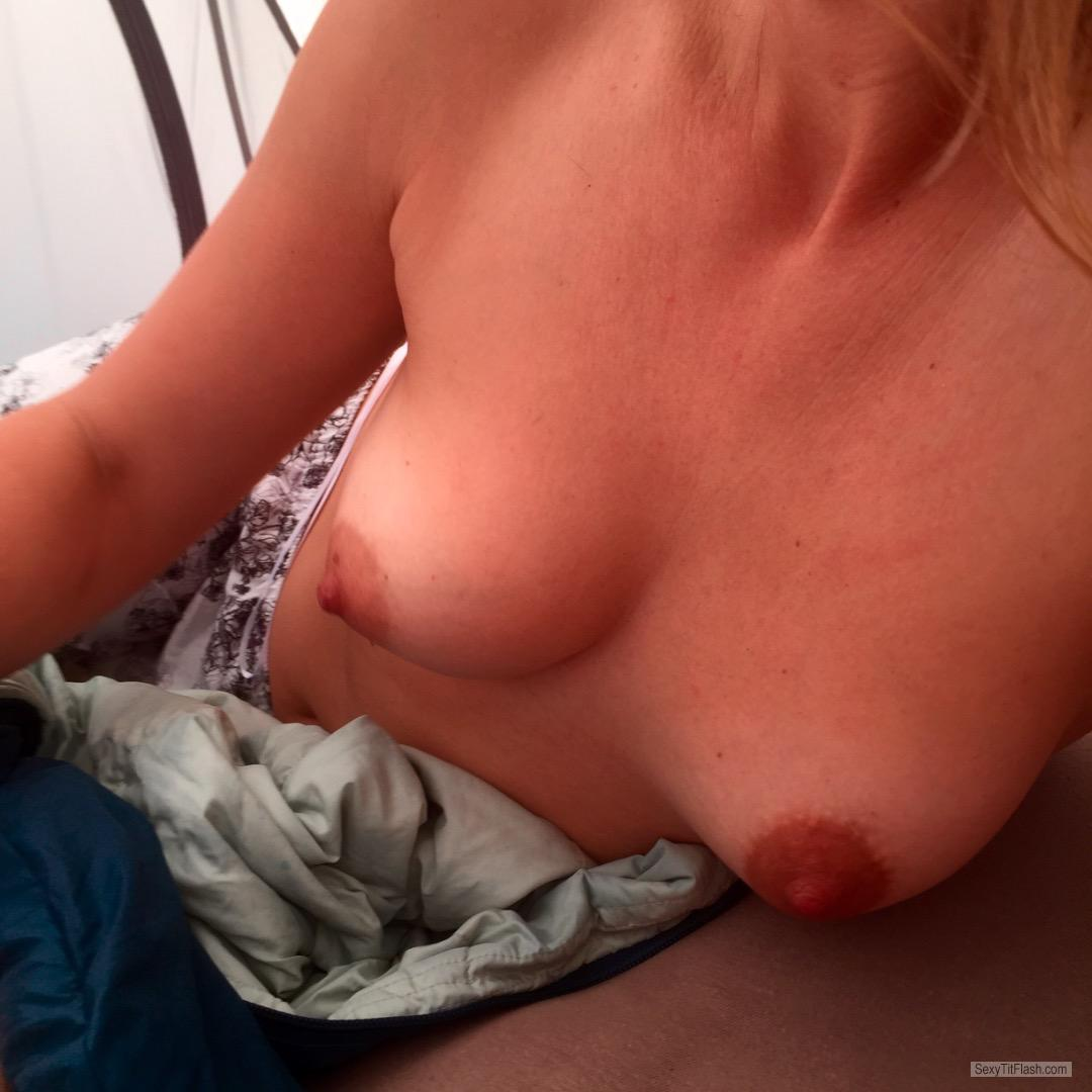 Tit Flash: My Medium Tits (Selfie) - Newbienew from United Kingdom