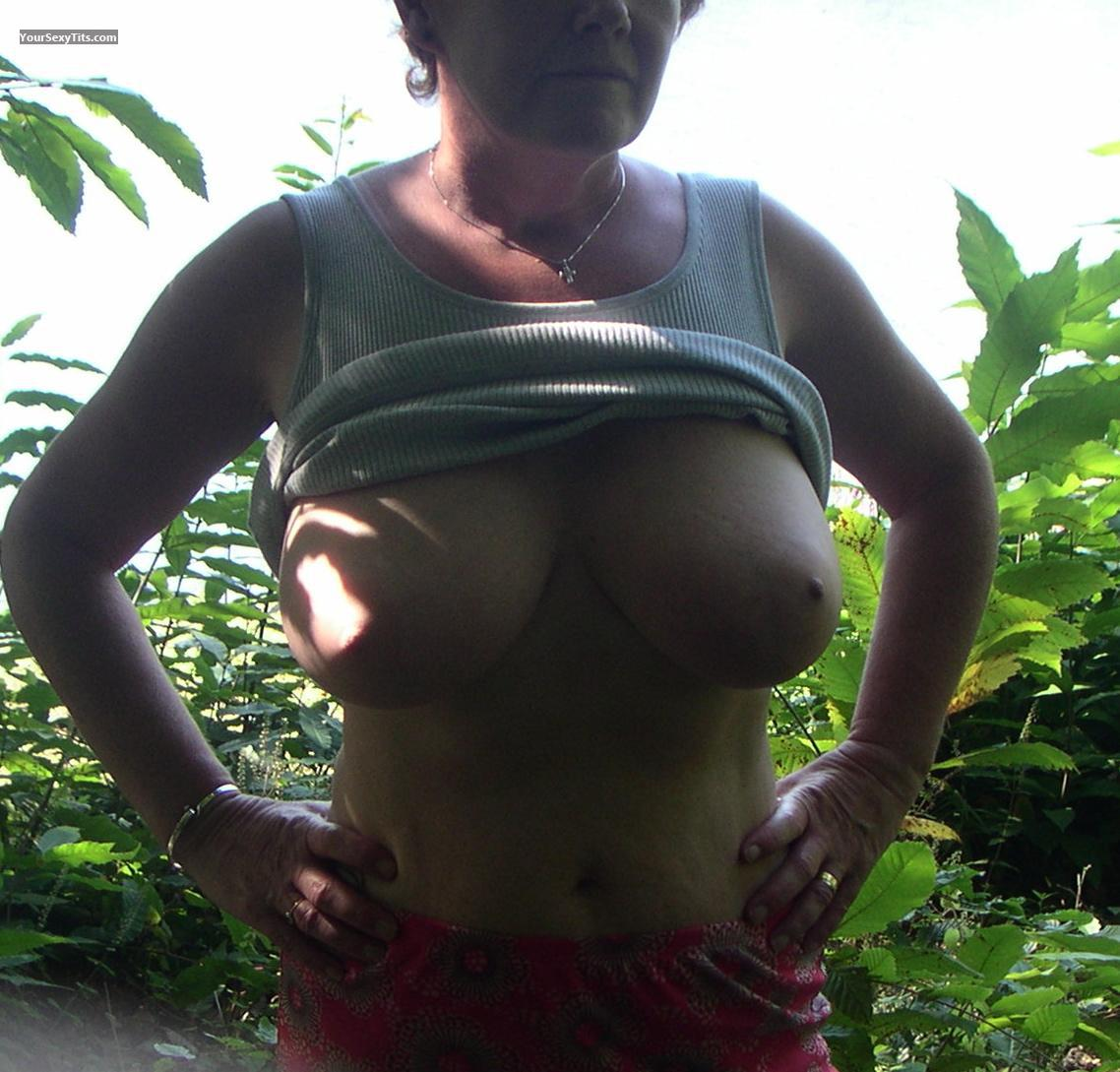 Tit Flash: Medium Tits - Jean from United Kingdom