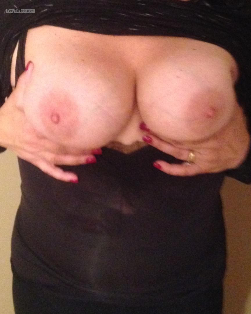 Tit Flash: My Medium Tits - Shan from United States