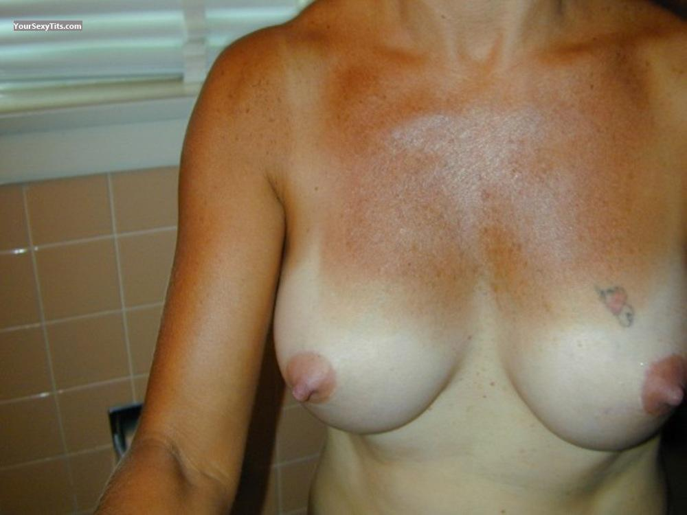 Tit Flash: Medium Tits - Jerri from United States