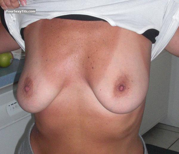 Tit Flash: Medium Tits - Boobies from United States