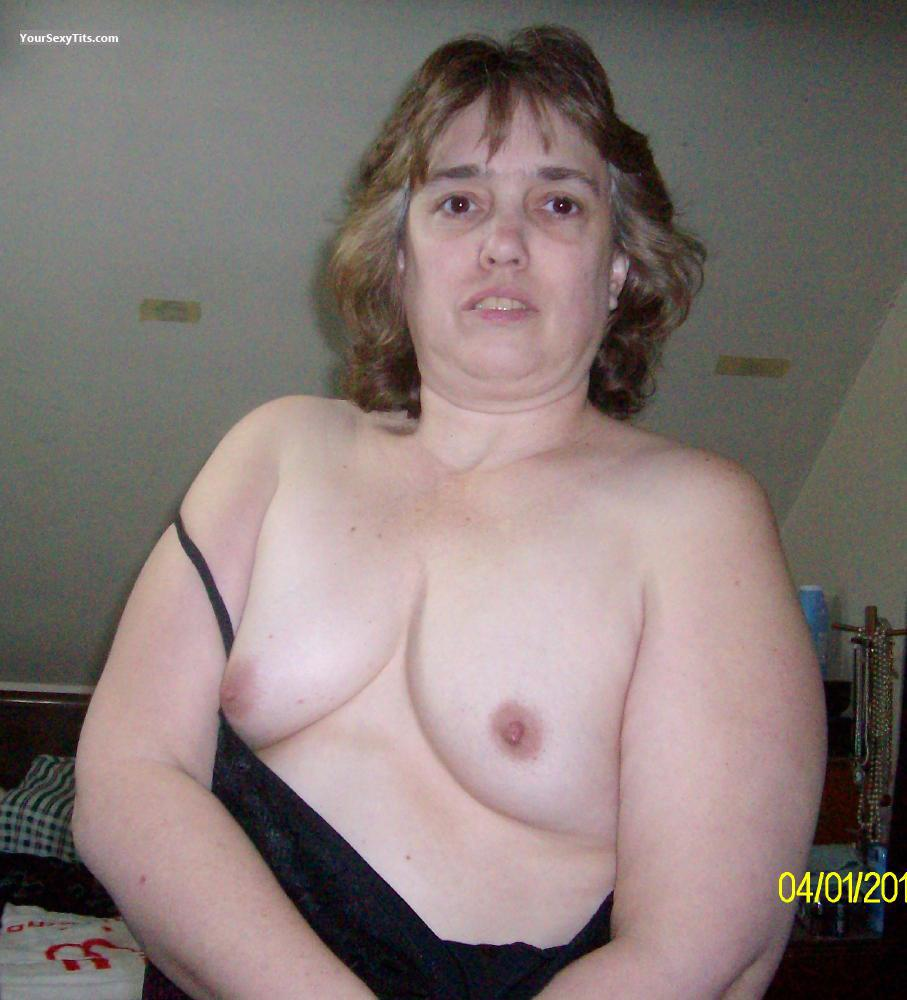 My Medium Tits Topless Selfie by For My Master