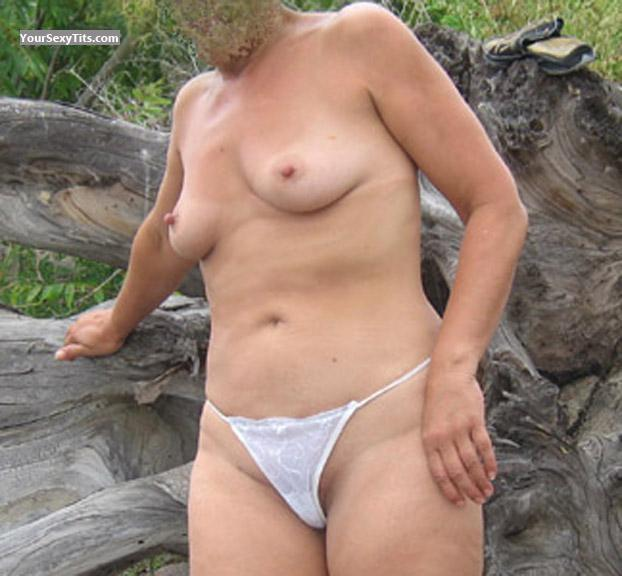 Tit Flash: Wife's Medium Tits - TsSara from United States