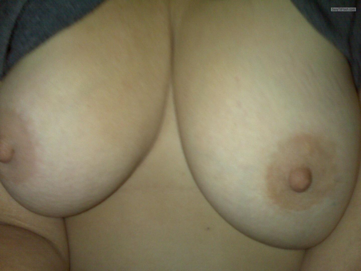 Tit Flash: My Medium Tits (Selfie) - New Orleans Lady from United States