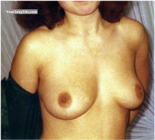 Tit Flash: Wife's Medium Tits - Marga from Germany