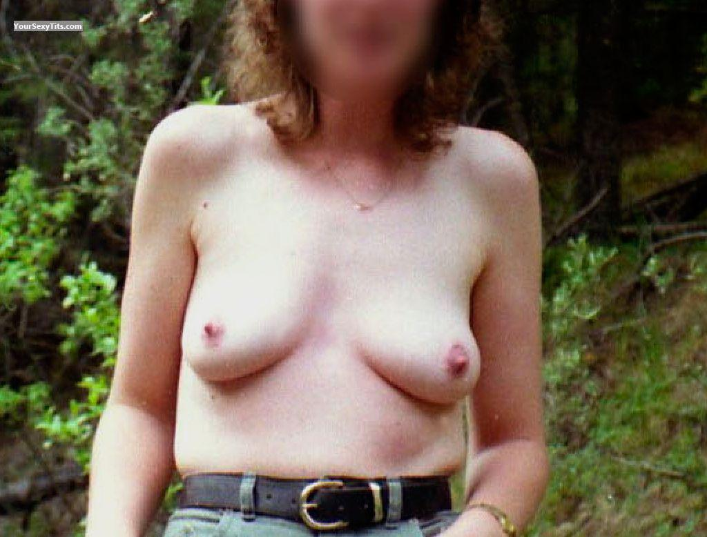 Tit Flash: Wife's Medium Tits - Donna from United States