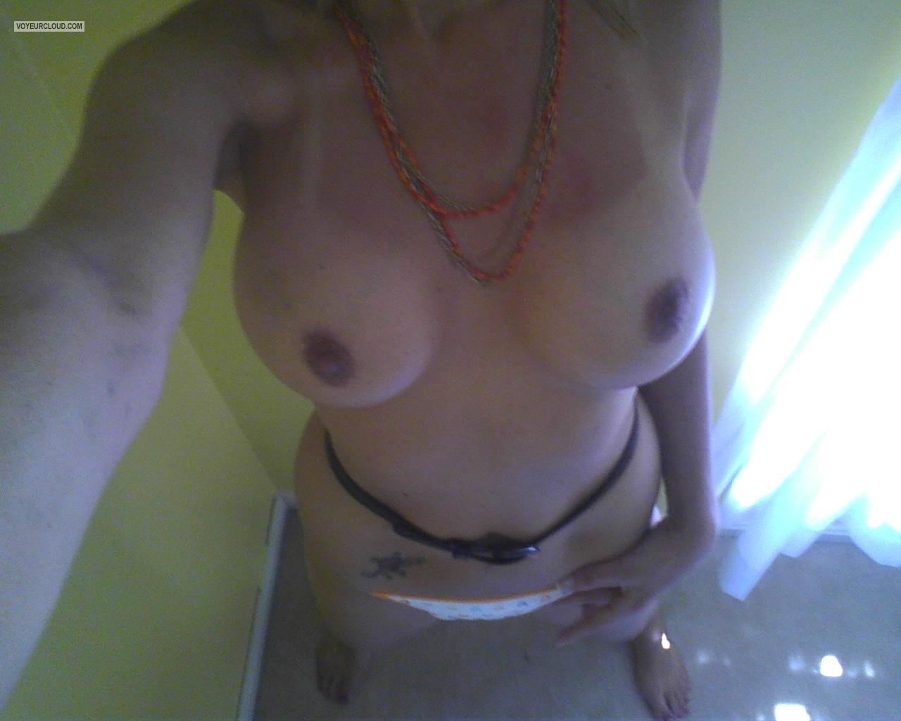 Tit Flash: My Medium Tits - Kellie0girl from United States