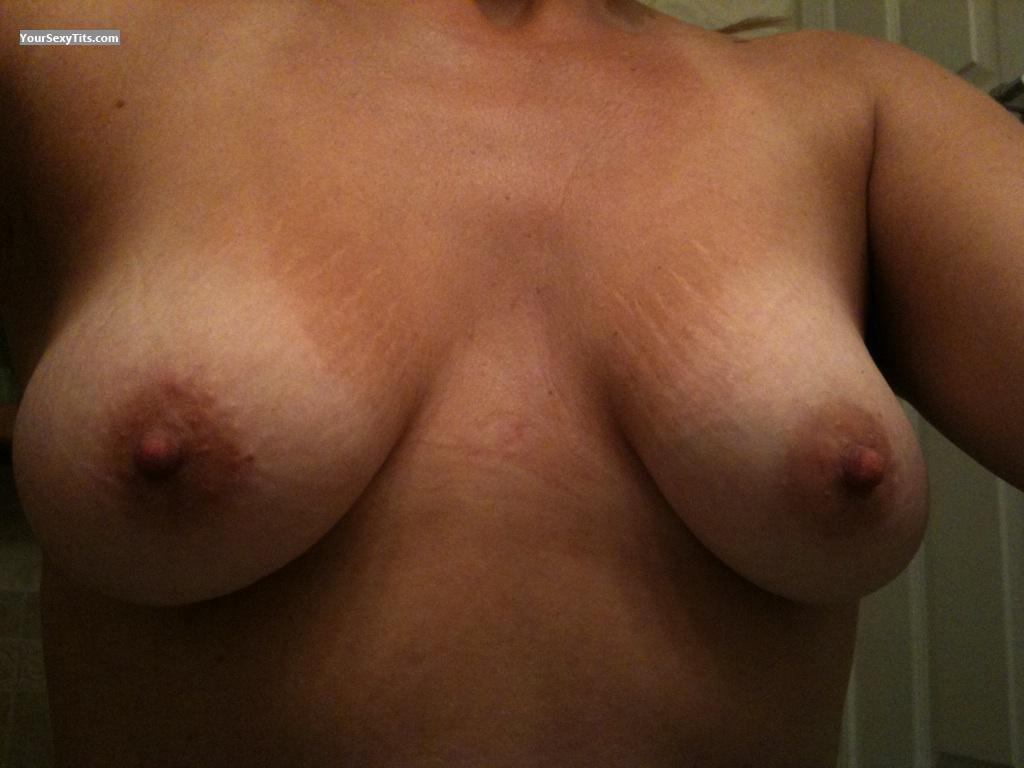 Tit Flash: My Medium Tits (Selfie) - TJ from United States