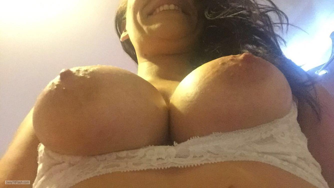 Medium Tits Of My Wife Topless Wife From Bellow