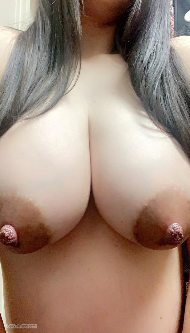 Tit Flash: My Medium Tits (Selfie) - Sweet Vee from United States