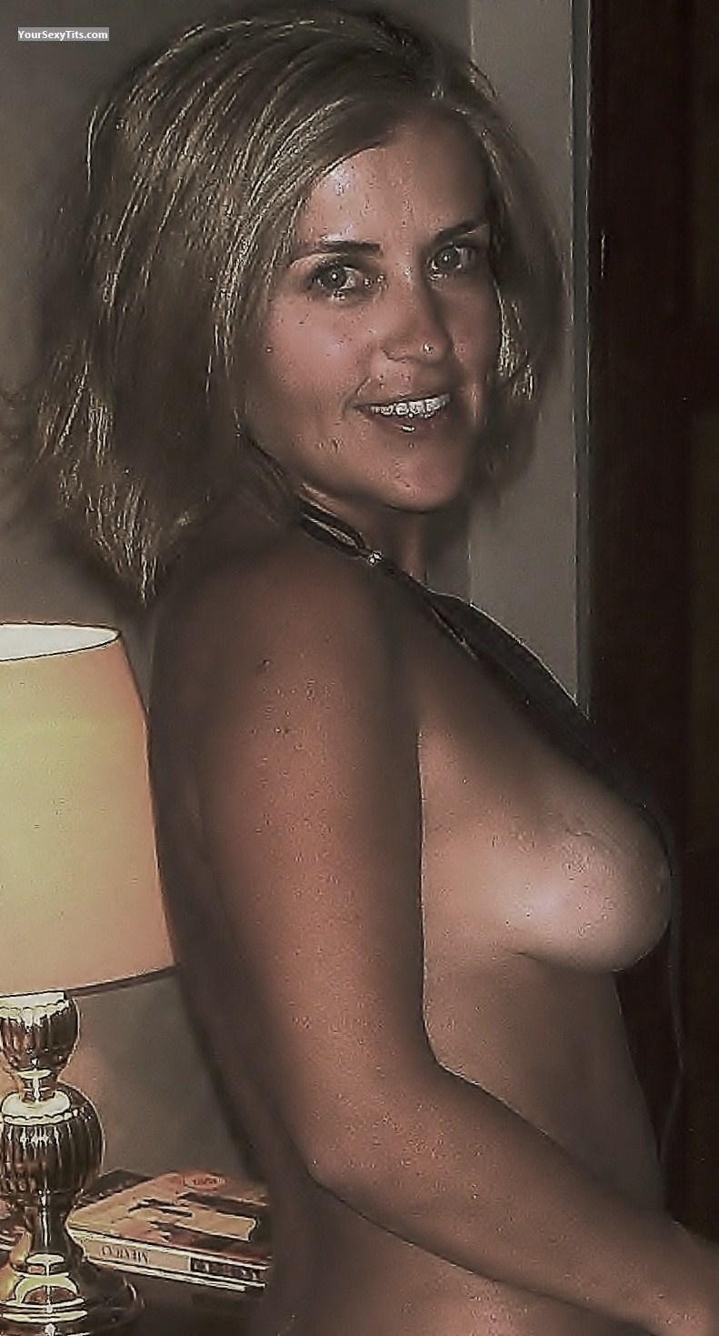 Tit Flash: Medium Tits - Topless CNA from Mexico