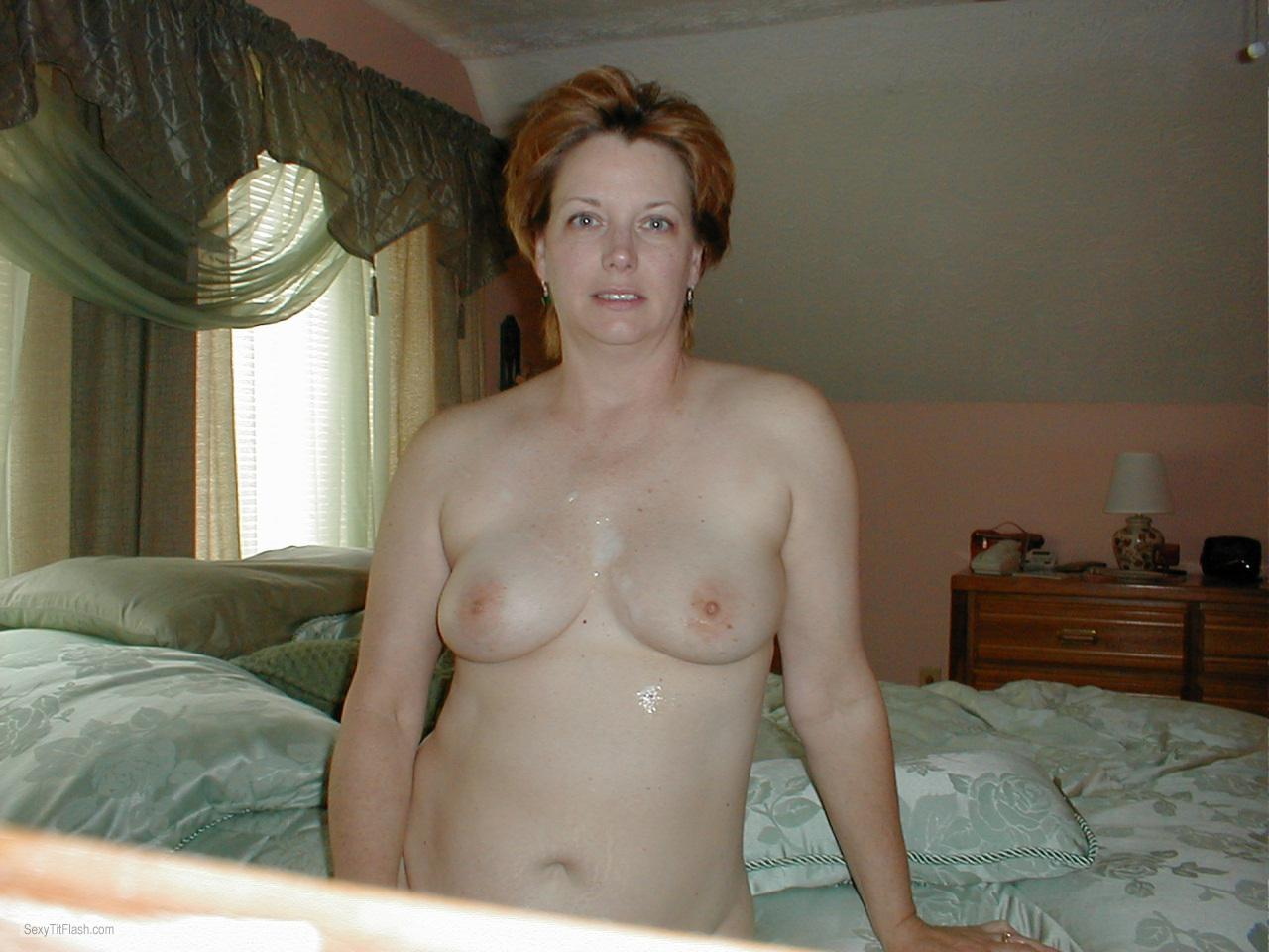 Medium Tits Of My Ex-Wife Topless Selfie by Funwanda