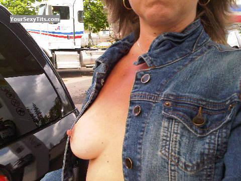 Tit Flash: My Medium Tits - Hot Slut from United States
