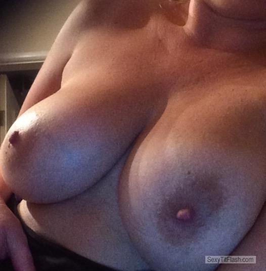 Tit Flash: My Medium Tits (Selfie) - Justboobies from United Kingdom