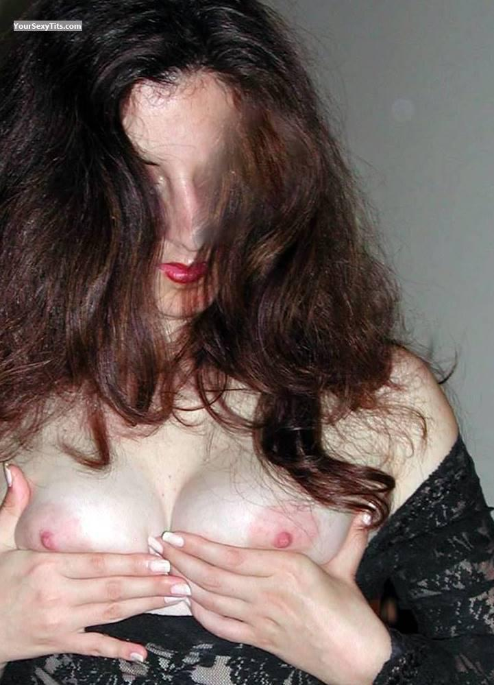 Tit Flash: Wife's Medium Tits - Millky Nipples from United States