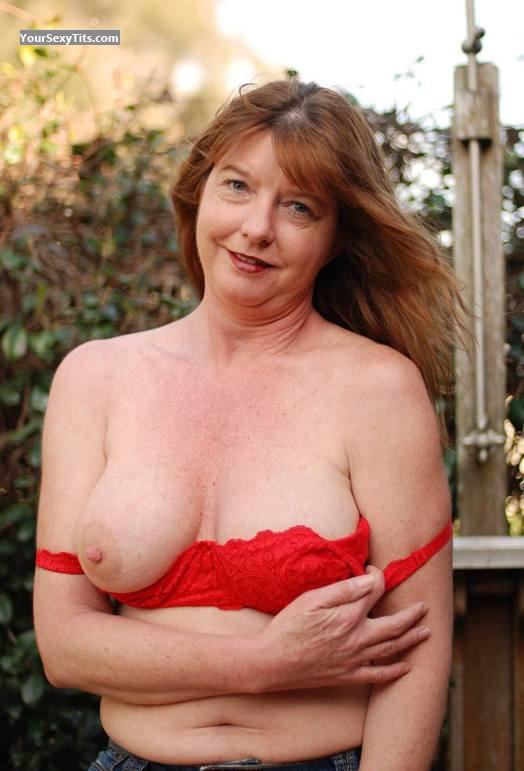 Tit Flash: Medium Tits - Auggie from United States