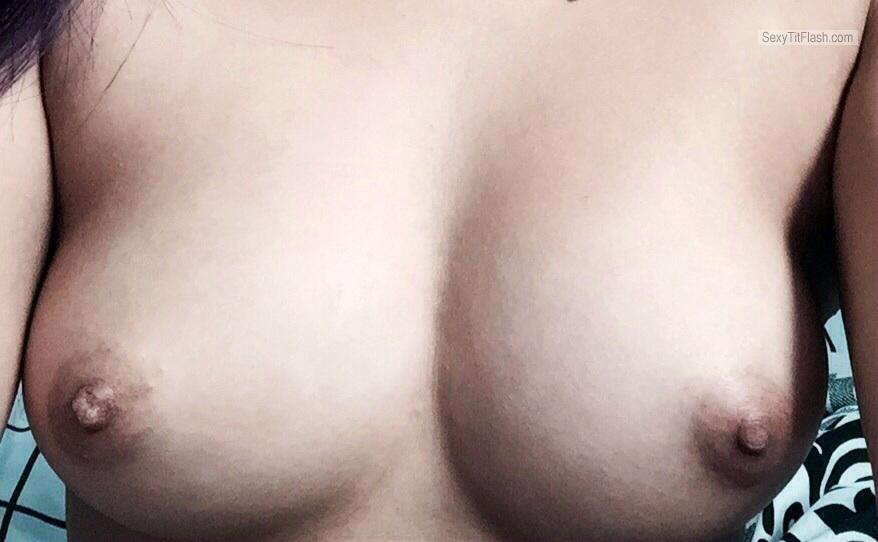 Tit Flash: Girlfriend's Medium Tits - Sexy Tits from United States